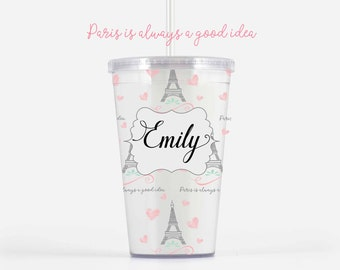 Paris is Always a Good Idea Tumbler | Personalized Tumbler | Travel Gift | Customizable | Fun & Inspirational Gifts | Coffee and Tea
