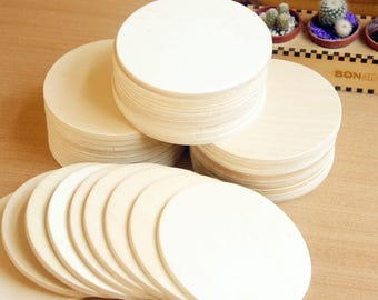 Wooden coasters, Blank wood coasters, Circle coasters, Round wood coasters, DIY coasters, Wooden supplies, Handmade coasters, Set of 36