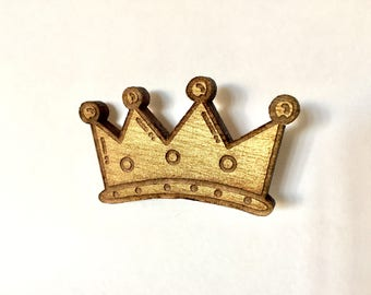 Brooch Golden Princess Crown
