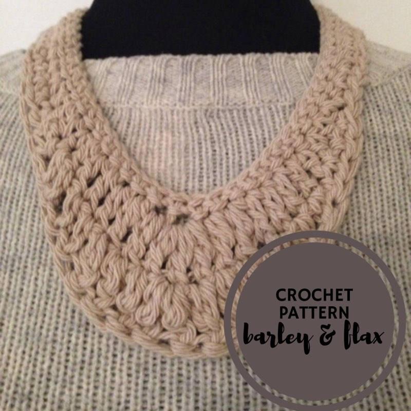 Crochet Statement Necklace Pattern Instant Download PDF