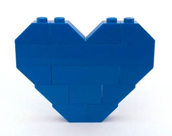 LEGO® blue heart brooch - jewelry