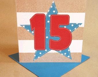 Age 15 Boy Birthday Card