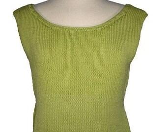 Easy Basic Classic Scoopneck Shell - Many Customizing Options - Knitting Pattern PDF