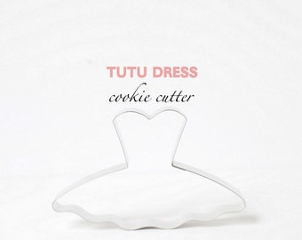 Tutu Dress Cookie Cutter (Stainless Steel)