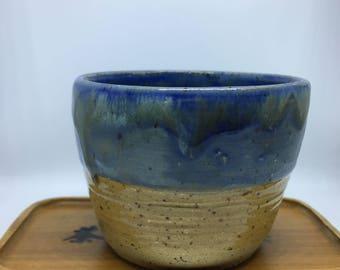 Blue rusty tea cup