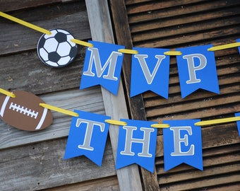 All Star Sports MVP Of the Year Birthday Party Banner, All Star Sports Banner, Sports Party, Sports Baby Shower, MVP of the Year Banner