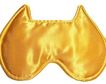 MANY COLORS! Yellow sleeping mask, Satin sleeping  mask,Cute sleeping mask, Soft sleeping mask, Travel sleeping mask,Beautiful sleeping mask