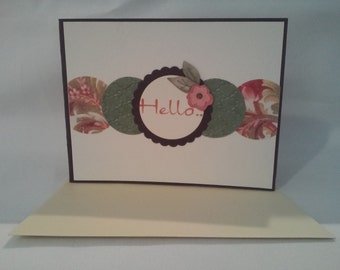 Hello Flower All Occasion Note Card A16