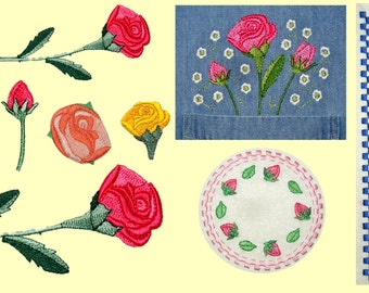 Coming Up Roses!  Machine Embroidery Designs
