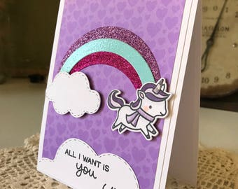 All I Need Is You Purple Card