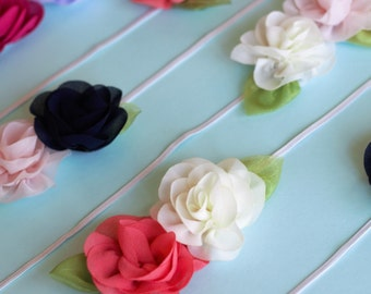 Sweet chiffon flower headbands or clips