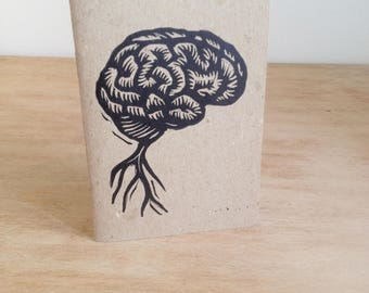 Brain Journal - Pocket Journal - Small Journal - Travel Notebook Journal with Brain - Pocket Sketchbook  - Notebook - Anatomy - Human Brain