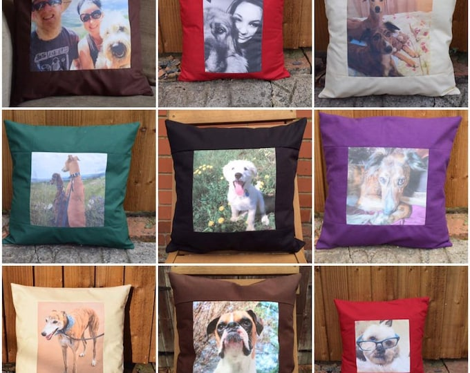 Featured listing image: Personalised Cushion Cover of your Pet, Family Member, Favourite Place, Photo Cushion Cover, Pet Cushion Cover, Family Cushion Cover