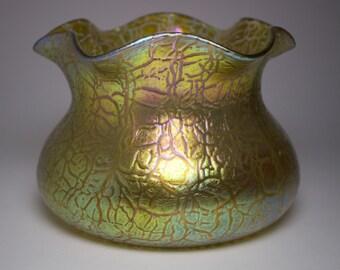 Loetz 1900s Art Nouveau Mimosa glass vase