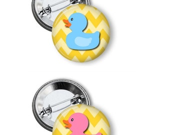 Gender Reveal Party Button - Duck Gender Reveal - Rubber Duck Gender Reveal - Gender Reveal Party Button - Gender Reveal Party Game Button