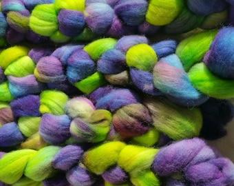 "2 wool roving for spinning or felting ""Monet"""