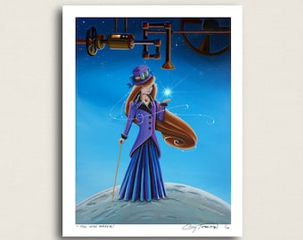 The Wish Maker - just a girl and her wishing machine -  Limited Edition Signed 8x10 Semi Gloss Print (4/10)