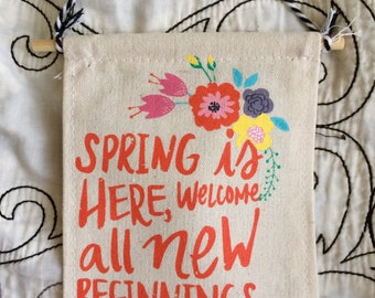 Spring is Here mini banner