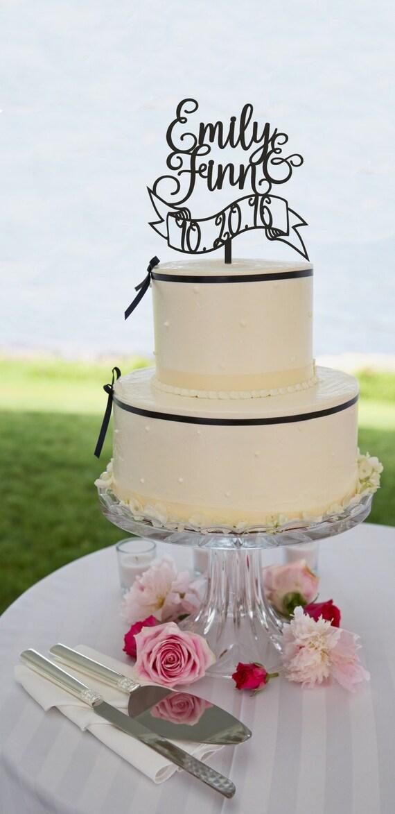 Custom Wedding Cake Topper, Personalized Cake Topper, Wedding Cake Topper, Glitter Cake Topper, Wedding Date Cake Topper, Wooden Cake Topper