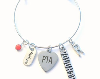 Thank you Gift for PTA Volunteer Charm Bracelet Jewelry, Appreciation present, Vice President Secretary Treasurer Home & School Association