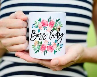 Floral Boss Lady Mug, Boss Lady Coffee Mug, Floral Boss Lady Coffee Cup, Flower Boss Lady Mug, Boss Mug, Mug for Boss Lady, Floral Mug Boss