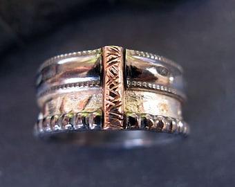 Mens Wedding Band Viking Wedding Ring Rustic Mens Wedding Ring Unique Mens Wedding Band Rose Gold Ring 11mm Black Gold Ring Mens Jewelry