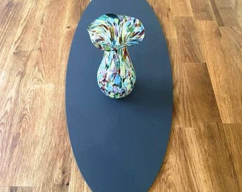 Oval Table Runner in Graphite Grey Matt Finish 3mm Acrylic - 2 Sizes Available