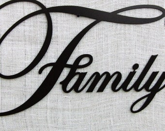 Family sign, wall decor, gift, family home decor, metal family sign