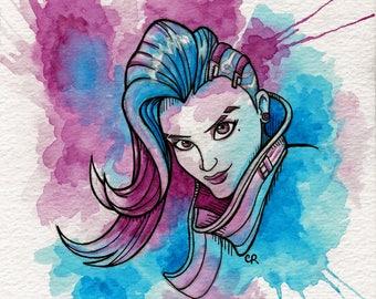 ORIGINAL Sombra watercolor