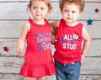 Sibling outfits, matching sibling outfits, 4th of july dress, Fourth of July dress, Fourth of July baby, 4th of july shirt, Fourth of July s