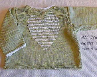 Kit for the realization of an open back 100% cotton jacket size 6 months