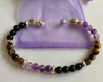 Crown and solar plexus chakra protection bracelet