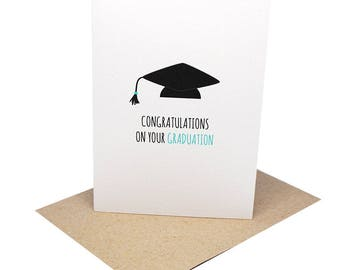 Graduation Greeting Card | Congratulations on Your Graduation | Graduation Cap | Handmade Graduation Card | Cards for Graduation | GRD010