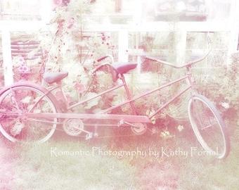 Paris Photography, Bicycle Print, Paris Blush Shabby Chic Decor, Paris Shabby Chic Blush Pink Wall Art Print, Paris Bicycle Wall Art Print