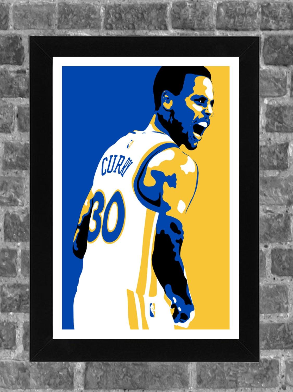 Golden State Warriors Stephen Curry Portrait Sports Print Art 11x17