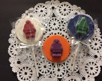 ROBOT PARTY FAVORS(12 qty)- Chocolate Lollipop Robot, Robot Birthday, Robot Birthday Party, Robot Lollipops,Party Favors,Robot Party