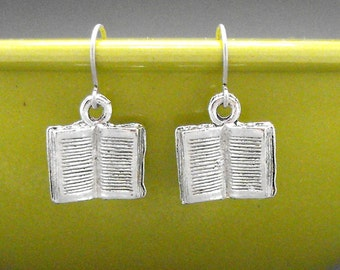 Book Earrings Dangle Bookish Book Lover Gift Bibliophile Literary Jewelry