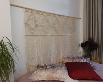 Large macrame wall hanging, macrame headboard, Home Decor tapestry, Bohomian home decor, boho wall art, Wedding decor, bedroom decor
