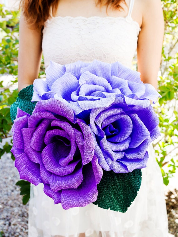 Handmade giant crepe bouquet paper flower bouquet wedding