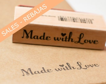 SALES - Made with Love label, packaging scrapbooking, details, gifts, crafts