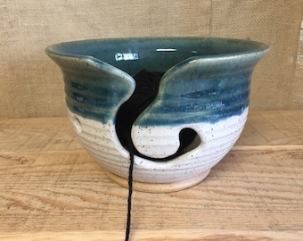 Winter Sky Curve Medium Yarn Bowl