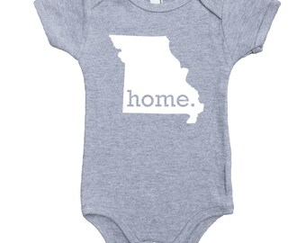 Homeland Tees Missouri Home Unisex Baby Bodysuit