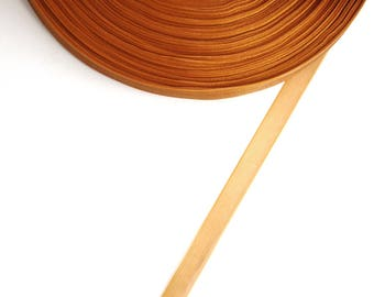 5 meters of 10 mm light brown organza Ribbon