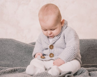 Arrow Baby Cardigan - sweater, knitting pattern, PDF download, wool baby sweater, jacket, baby clothes, Easy knitting patterns