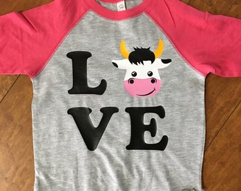 Love Cows Farm Raglan Shirt