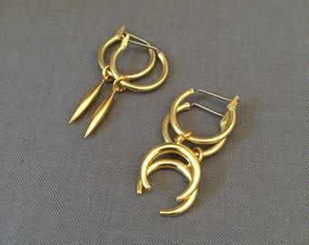 alexa - petite charm hoop earrings
