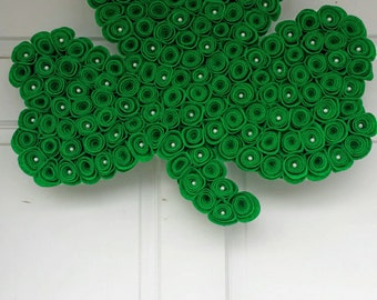 Shamrock wreath, St Patricks Day, Shamrock decorations, Irish decoration