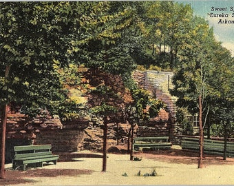 Eureka Springs, Arkansas, Sweet Springs - Vintage Postcard - Postcard - Unused (H)
