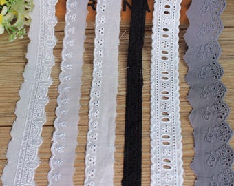 Embroidery Scalloped Cotton Eyelet Lace Trim