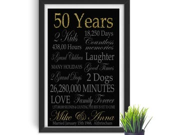 50 years marriage etsy